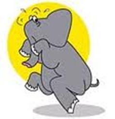 elephant sneaking