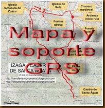 Mapa y soporte GPS - Ruta cuevas de Artetxe - Garaioa