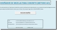 Diseño de mezclas de concreto método ACI