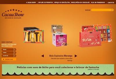 Site Cacau Show, Chocolates em Promoção, Preços, Onde Comprar