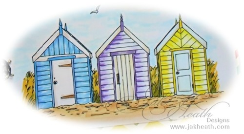 Seaside beach huts2