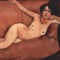 Modigliani, Akt auf Sofa (Almaiisa)