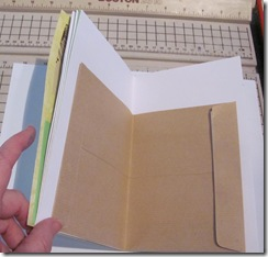 pamphlet book 3 hole lime green page w envelope