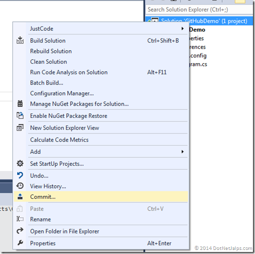 commit-to-local-git-repository-visual-studio-2013