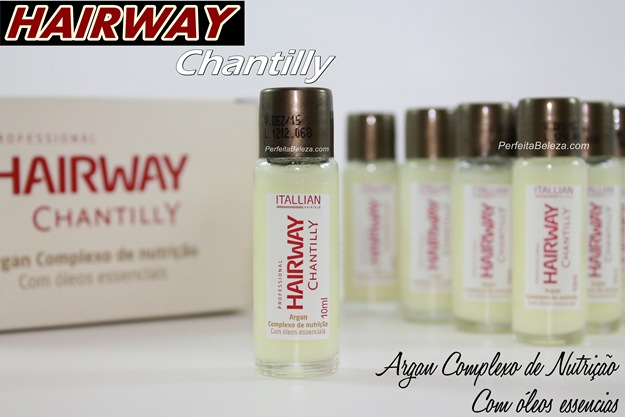 hairway chantilly argan complexo de nutrição