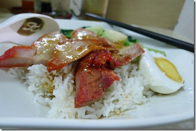 typical char siew rice at Guangzhou