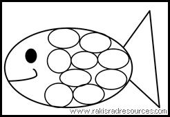 Classroom Freebies: Rainbow Fish Template