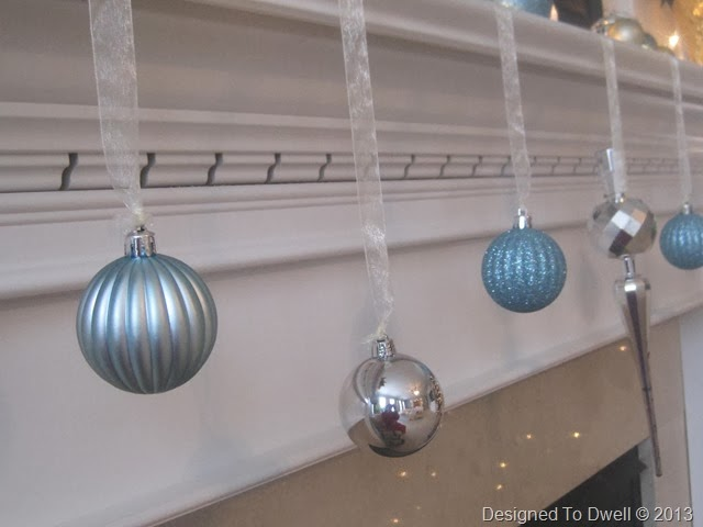 Ornaments Hanging from Mantel