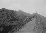 A figure on Bromo crater (unknown photographer, 1924) Courtesy TropenMuseum Archive