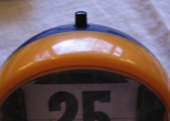 perpetual flip calendar, orange and blue