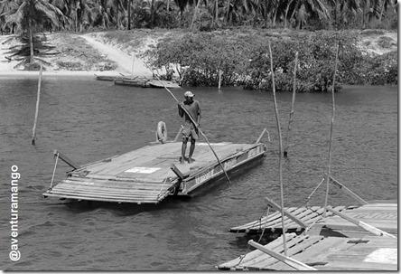 Barqueiro em Sibaúma - RN