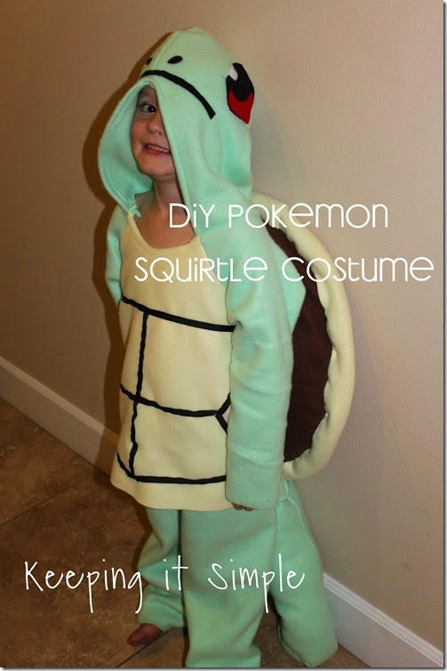 DIY Pokemon Squirtle Costume
