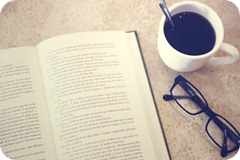 Book glasses coffee
