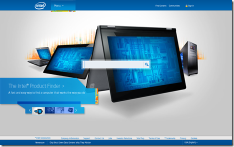 Intel Home Page