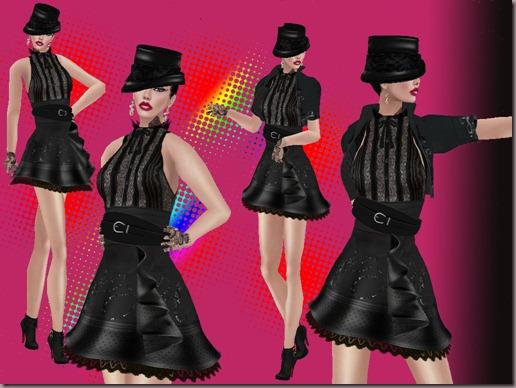 aDiva Couture Monochrome DressCombined