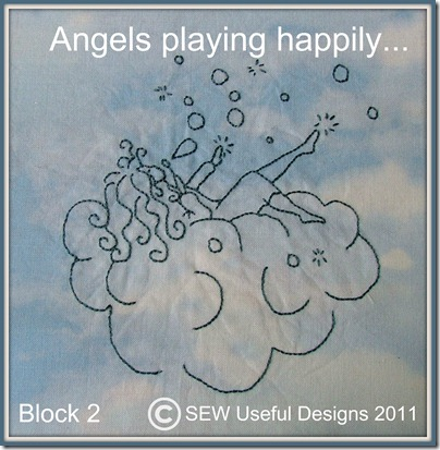 Angels playing happily block two photo