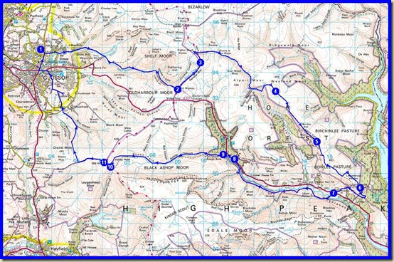 Our route - 40 km, 1400m ascent, 2 days