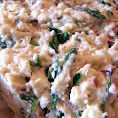 Arugula (Rocket) and Blue Cheese Mashed Potatoes
