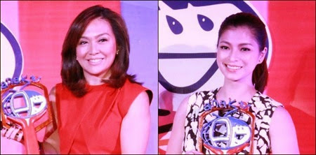 Makabata Stars 2014 Hall of Famers Karen Davila and Angel Locsin