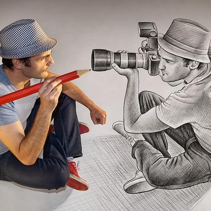 3D Pencils Drawings by Ben Heine