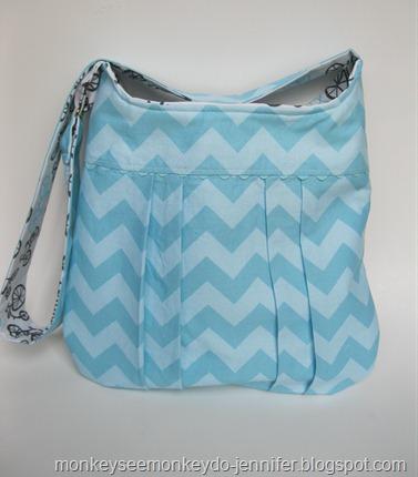 aqua chevron bag (5)