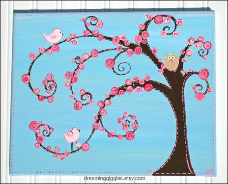 aqua swirl tree