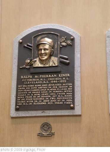 'Ralph Kiner Hall of Fame Plaque' photo (c) 2009, slgckgc - license: http://creativecommons.org/licenses/by/2.0/