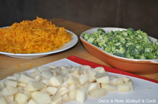 Preparations for Potato, Broccoli, and Cheese Soup