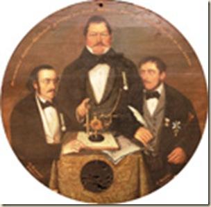 cible motif portrait de trois juges
