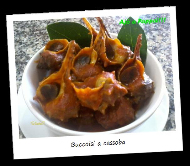 Fotografia del piatto tradizionale sardo Buccoisi a cassoba