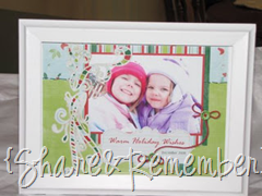 DIY Framed Holiday Portrait Gift
