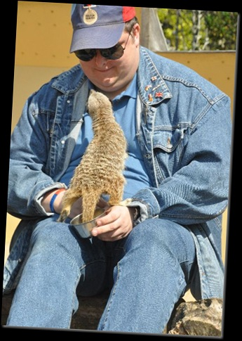 Brian up-close with Meerkat! DSC_0930