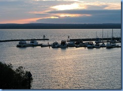 2765 Wisconsin US-2 East - Ashland - Best Western Hotel Chequamegon - sunset over Lake Superior  we can see from our room