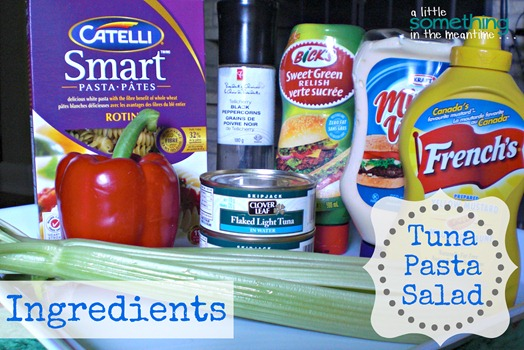 Tuna Pasta Salad Ingredients