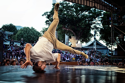 B-Boy Sette from Australia battles at Red Bull BC One Asia Pacific Final, at Kushida Shrine, in Fukuoka, Japan, on October 12, 2013. // Nika Kramer/Red Bull Content Pool // P-20131015-00091 // Usage for editorial use only // Please go to www.redbullcontentpool.com for further information. //