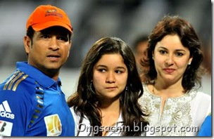 Sachin Tendulkar wife Anjali, daughter Sara and son Arjun