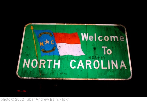 'Welcome to North Carolina' photo (c) 2002, Taber Andrew Bain - license: http://creativecommons.org/licenses/by/2.0/