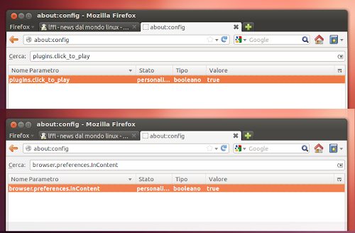 Firefox 15 - about:config