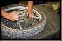 Take tire to auto shop to get cogset off.