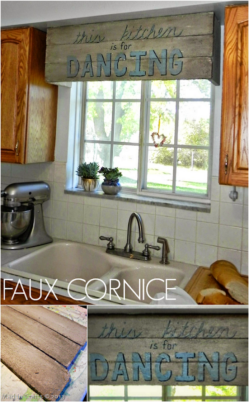 Faux Kitchen Cornice - Mad in Crafts