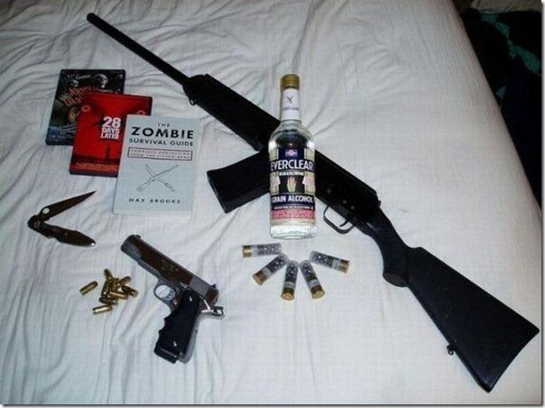 Kit de sobrevivência a um ataque zumbi