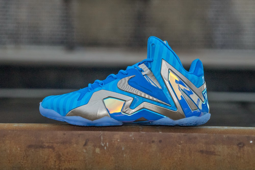best website 0bba9 6e397 Release Reminder Nike LeBron 11 Maison Collection ... Nike Lebron 11 Elite  3M Blue ...