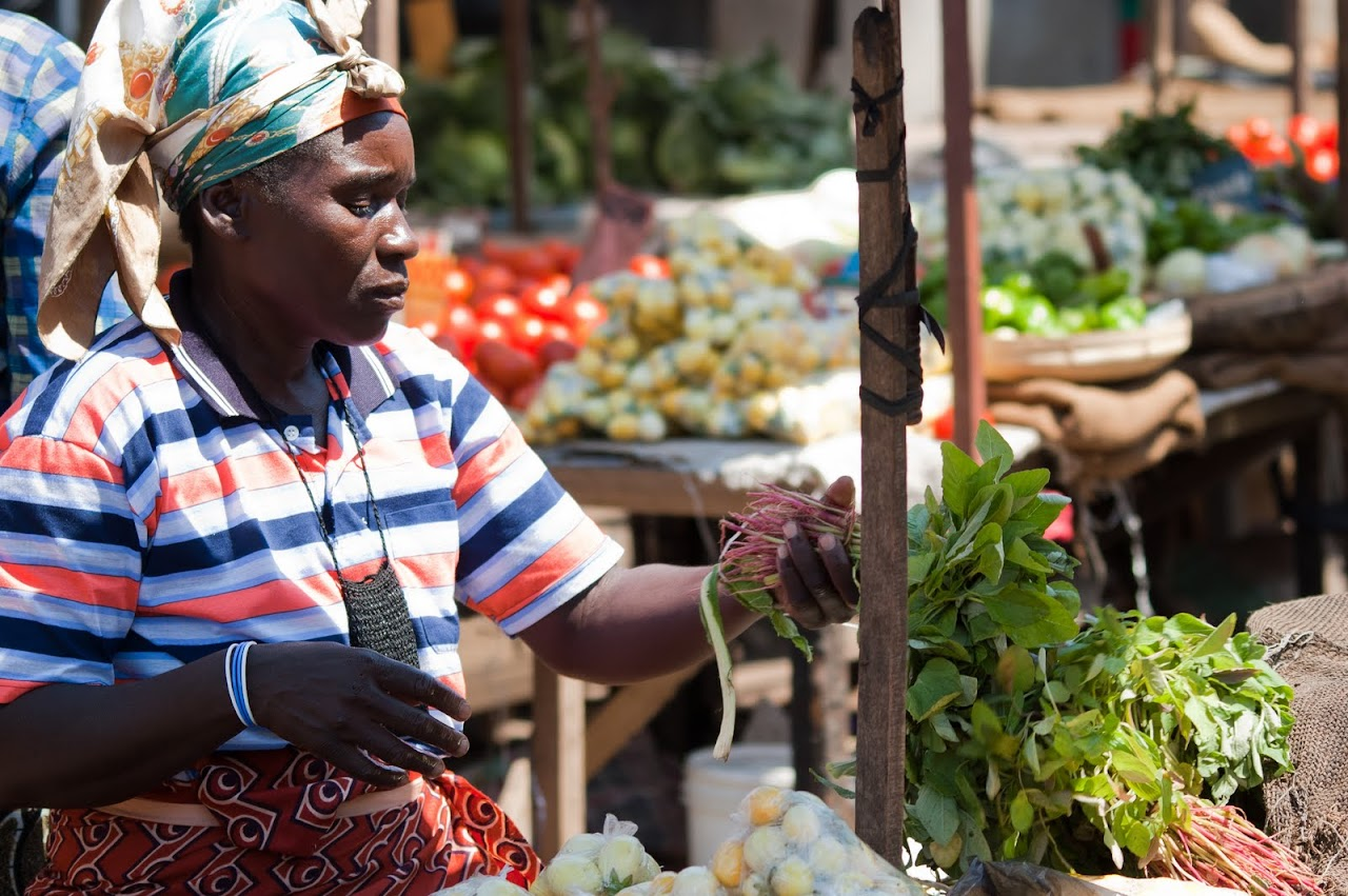 Woman at Zambian Market