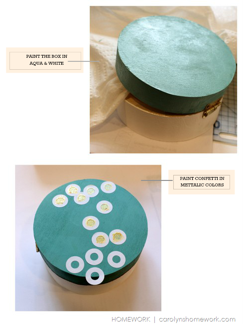 Painted Confetti Dot Jewelry Box via homework | carolynshomework.com