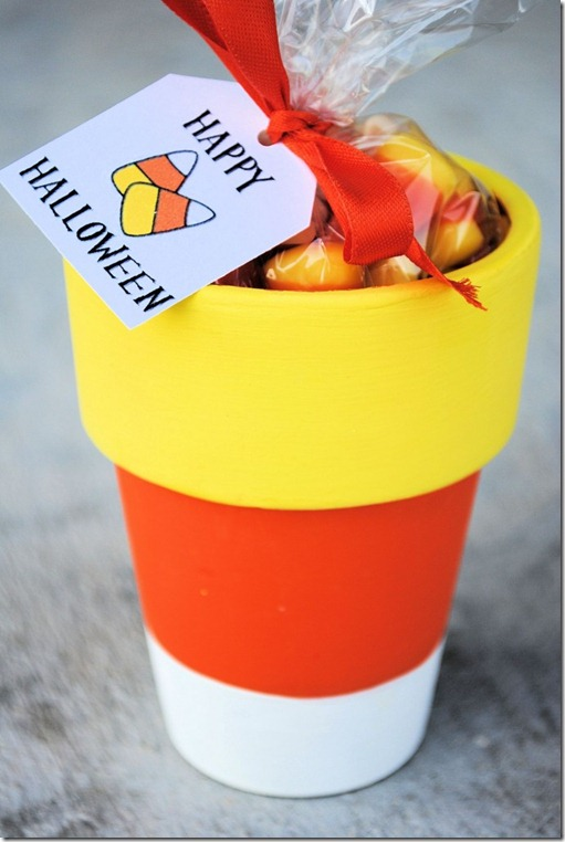 Candy Corn Pot – Day 7 Kids Crafts