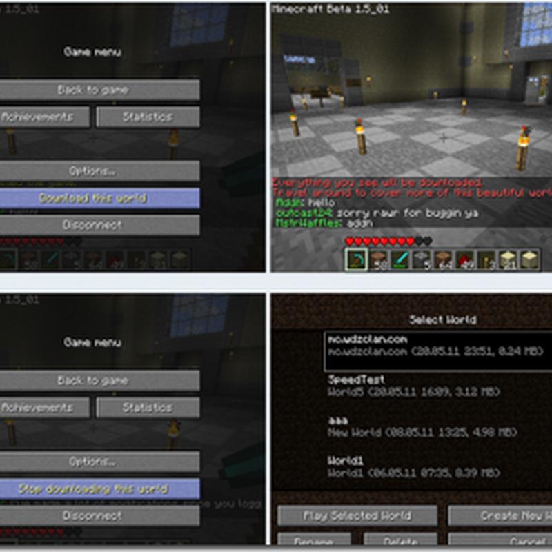 Minecraft 1.2.3 - World Downloader Mod