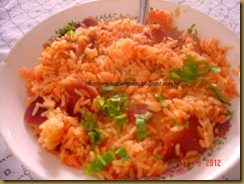 arroz com beterraba