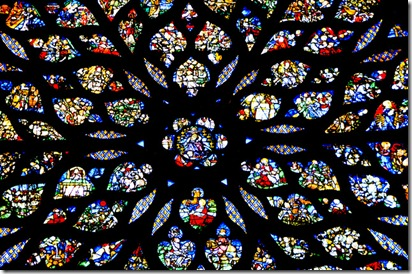 The Rose Window in the upper chapel of the Sainte-Chapelle - Paris France