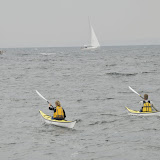 Vi ror om kap med sejlbådene