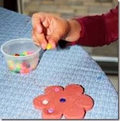 beads in playdough